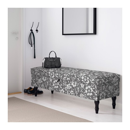 STOCKSUND Bench - Nolhaga dark gray, light brown - IKEA