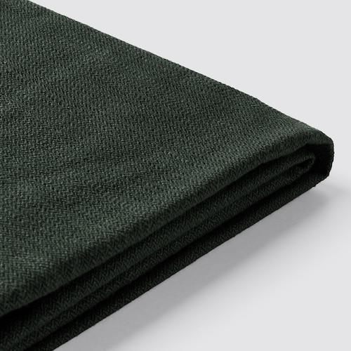 STOCKSUND cover for loveseat Nolhaga dark green