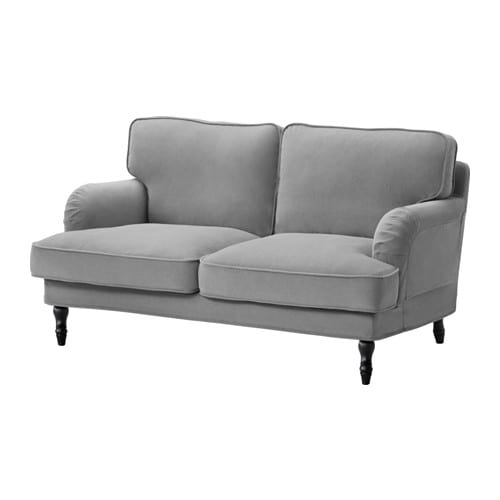 stocksund loveseat ljungen gray black ikea. Black Bedroom Furniture Sets. Home Design Ideas