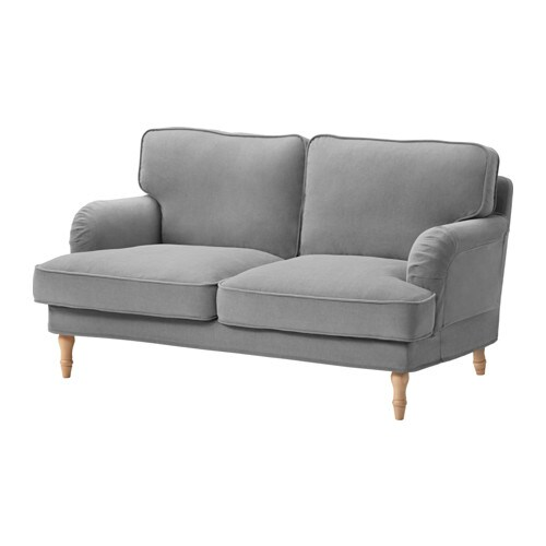 stocksund loveseat ljungen gray light brown ikea. Black Bedroom Furniture Sets. Home Design Ideas