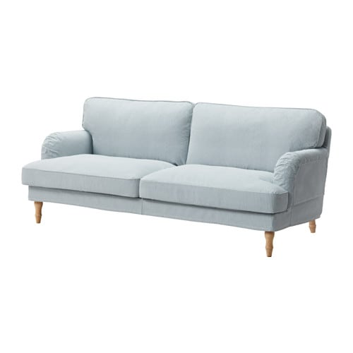 Sofa ikea  STOCKSUND Sofa - Remvallen blue/white, light brown - IKEA