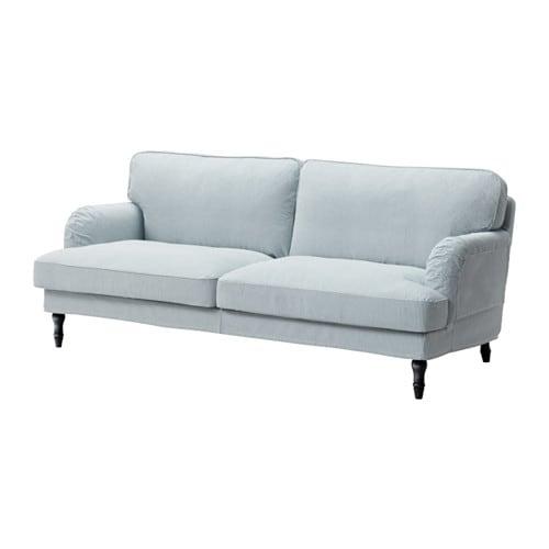 Stocksund Sofa Remvallen Blue White Black Ikea