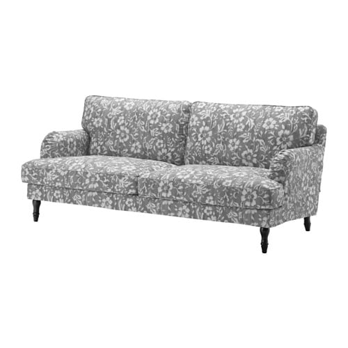 Stocksund sofa hovsten gray white black ikea for Ikea gray sofa