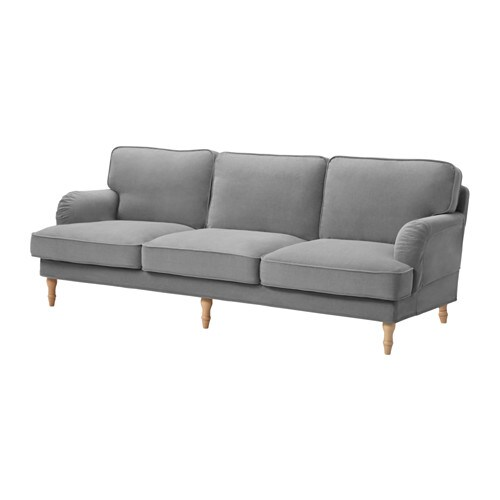 stocksund sofa ljungen gray light brown ikea. Black Bedroom Furniture Sets. Home Design Ideas