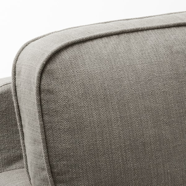 STOCKSUND Sofa, Nolhaga gray-beige/black/wood