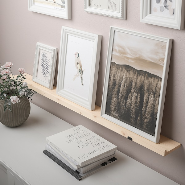 """STÖDSTORP Picture ledge, white stained, 45 1/4 """""""