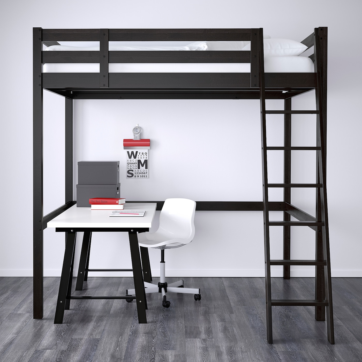 Stora Loft Bed Frame Black Full Double Ikea
