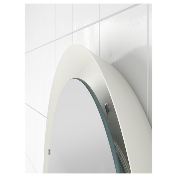 """STORJORM Mirror with built-in light, white, 18 1/2 """""""