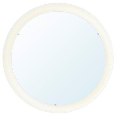STORJORM Mirror with built-in light, white, 18 1/2 ""