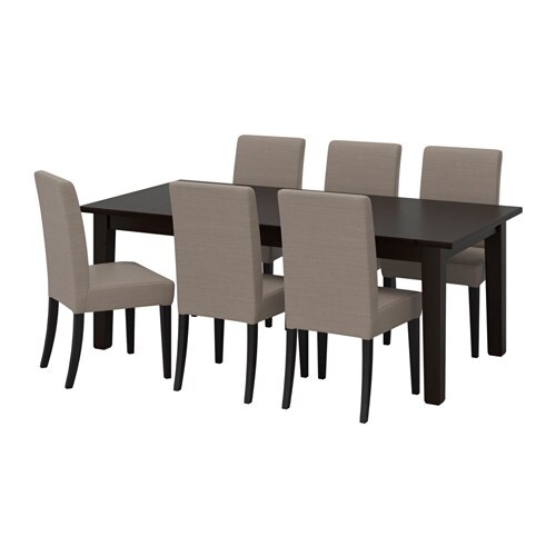 Storn s henriksdal table and 6 chairs ikea - Table a roulettes ikea ...