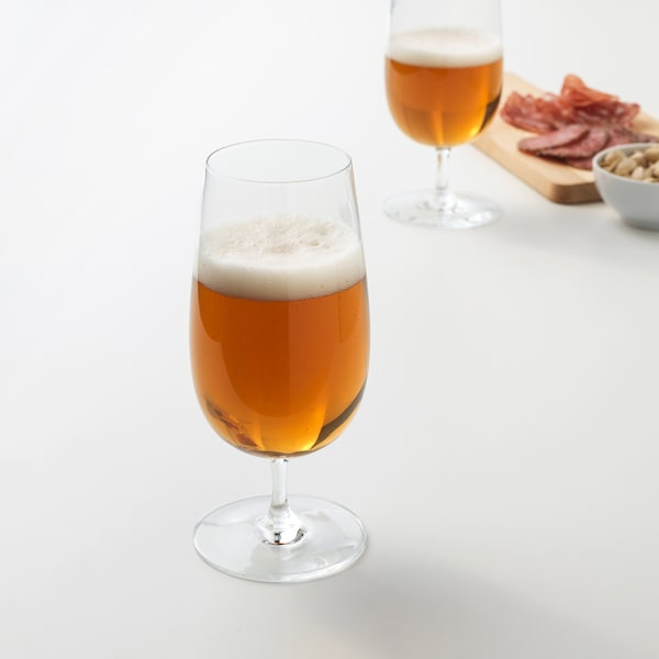 STORSINT Beer glass, clear glass, 16 oz