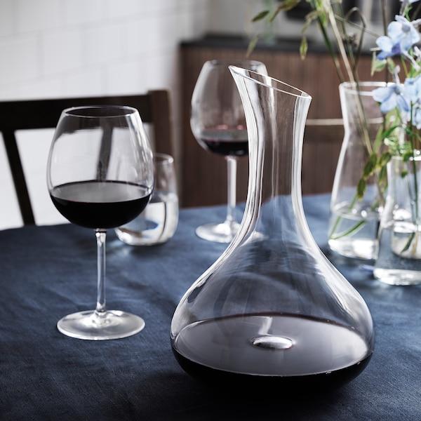 STORSINT Carafe, clear glass, 57 oz