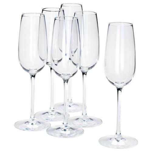"STORSINT champagne flute clear glass 8 ¾ "" 7 oz 6 pack"