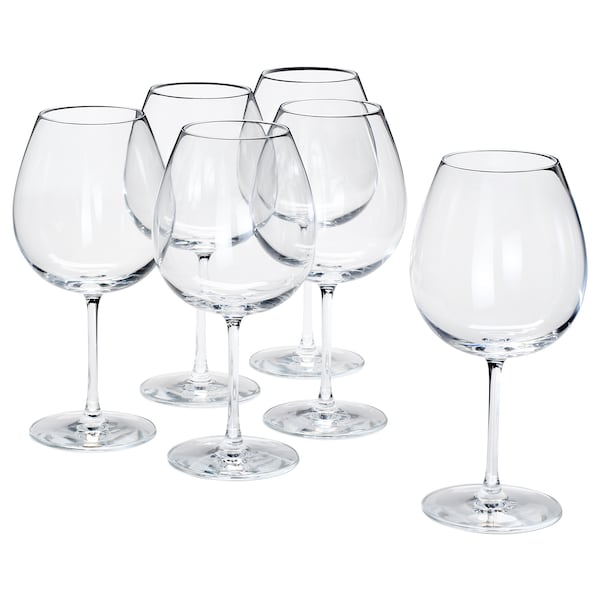 "STORSINT red wine glass clear glass 9 "" 23 oz 6 pack"