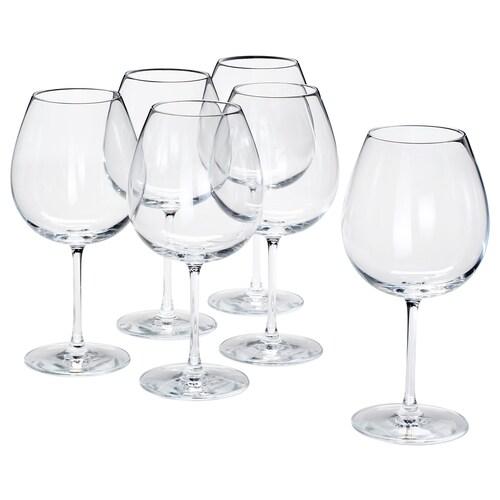 "STORSINT red wine glass clear glass 9 "" 23 oz 6 pack"