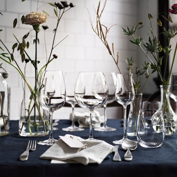 STORSINT Red wine glass, clear glass, 23 oz