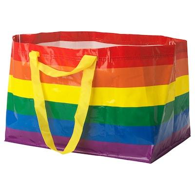 "STORSTOMMA shopping bag, large multicolor 21 ¾ "" 13 ¾ "" 14 ½ "" 2401 oz"