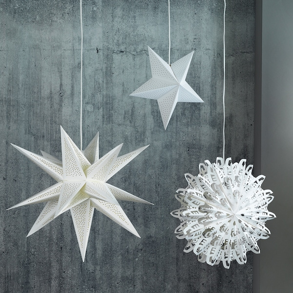 """STRÅLA Lamp shade, 3D/dotted white, 26 """""""