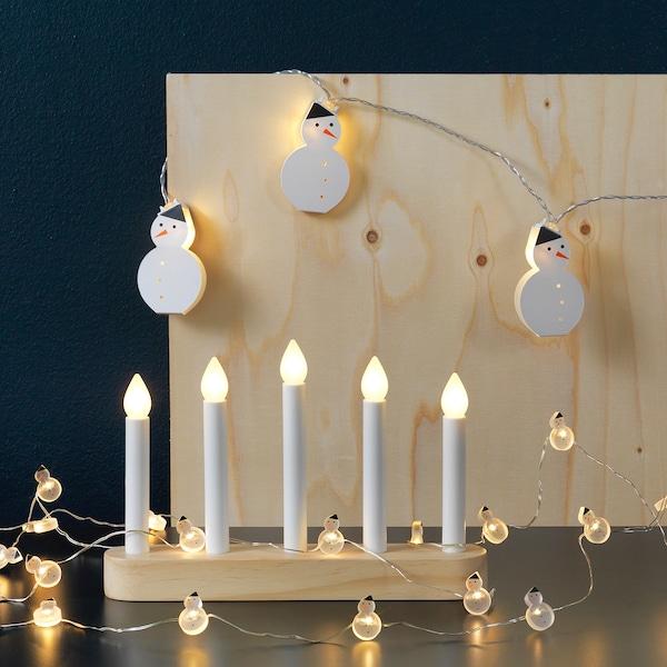 IKEA STRÅLA Led 5-arm candelabra