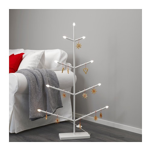 STRÅLA LED floor candelabra, tree-shaped tree-shaped -