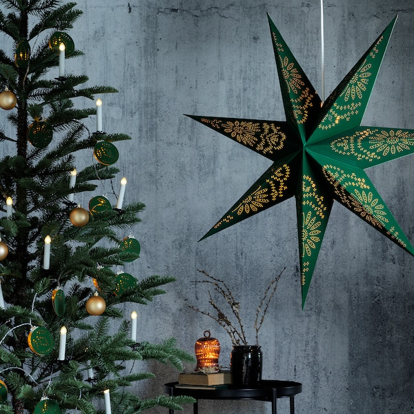 STRÅLA LED string light with 12 lights, battery operated/mixed patterns