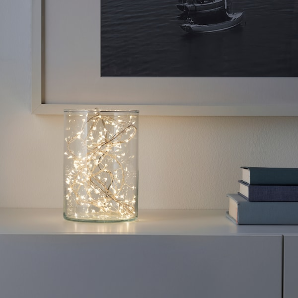STRÅLA LED string light with 160 lights, battery operated mini