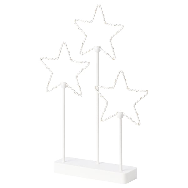 STRÅLA LED table decoration, battery operated/star 3