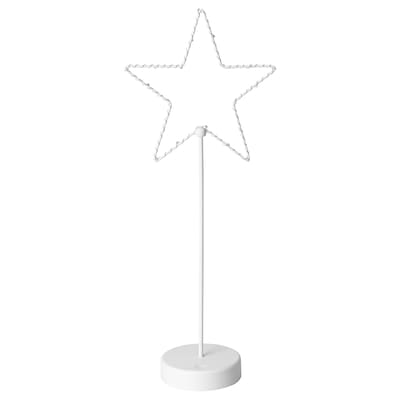 STRÅLA LED table decoration, battery operated/star