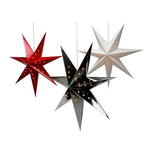 """STRÅLA Pendant lamp, assorted colors star Diameter: 39 """"  Diameter: 100 cm"""