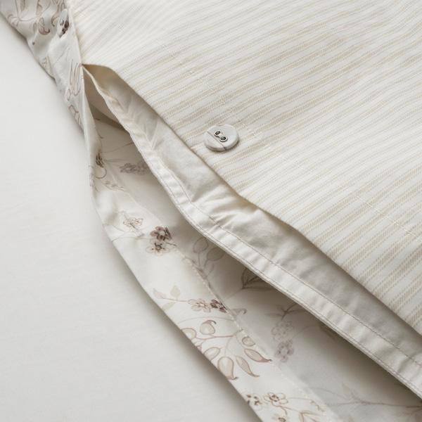 """STRANDFRÄNE duvet cover and pillowcase(s) white/light beige 200 /inch² 2 pack 86 """" 86 """" 20 """" 30 """""""