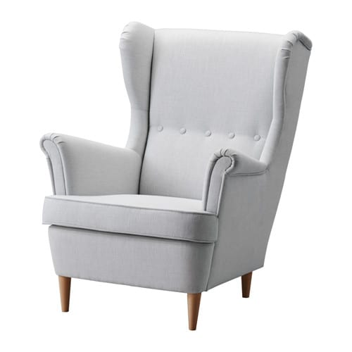 strandmon wing chair nordvalla light gray ikea