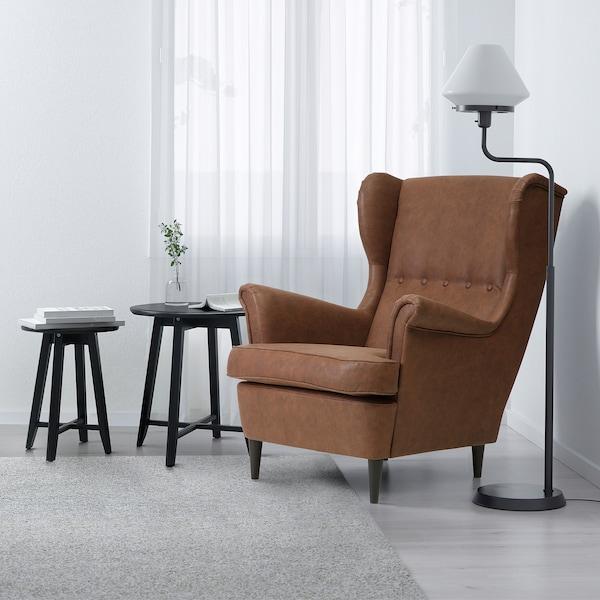 STRANDMON Wing chair, Järstad brown