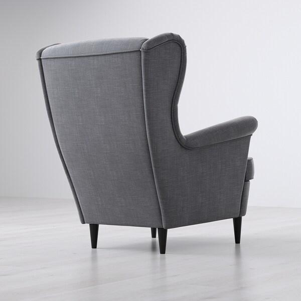 "STRANDMON wing chair Nordvalla dark gray 32 1/4 "" 37 3/4 "" 39 3/4 "" 19 1/4 "" 21 1/4 "" 17 3/4 """