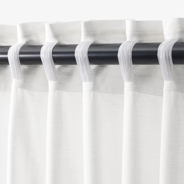 "STRANDTRIFT curtains, 1 pair lilac/white 98 "" 57 "" 1 lb 15 oz 39.07 sq feet 2 pack"