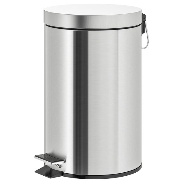 STRAPATS Pedal bin, stainless steel, 3 gallon