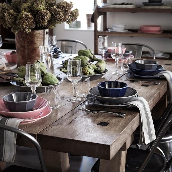 "STRIMMIG Deep plate/bowl, stoneware pink, 9 """
