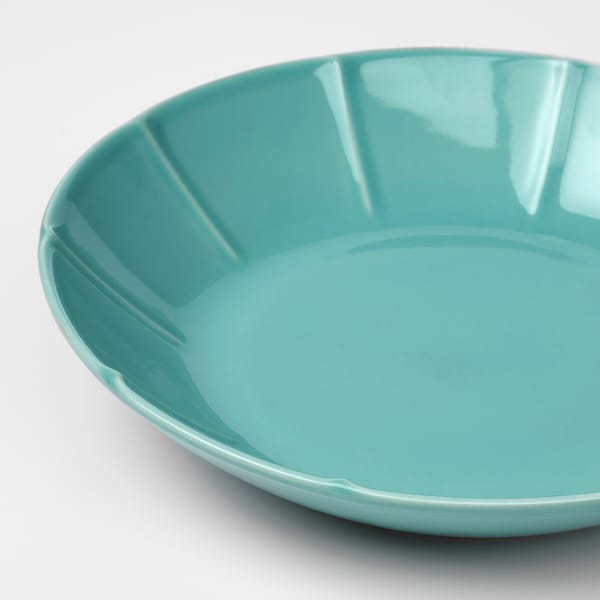 """STRIMMIG Deep plate/bowl, turquoise, 9 """""""