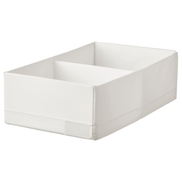 STUK Box with compartments, white, 7 ¾x13 ½x4 ""