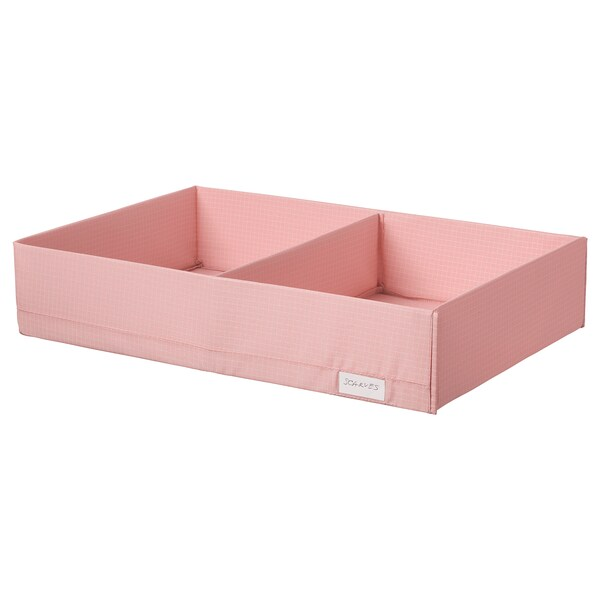"STUK box with compartments pink 13 ½ "" 20 "" 4 """