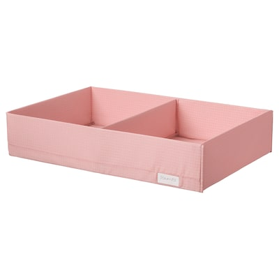 """STUK box with compartments pink 13 ½ """" 20 """" 4 """""""