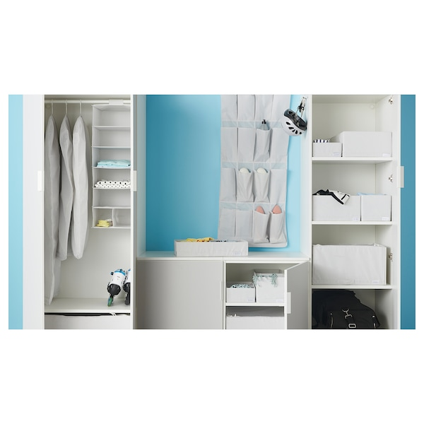"STUK box with compartments white/gray 7 ¾ "" 20 "" 4 """