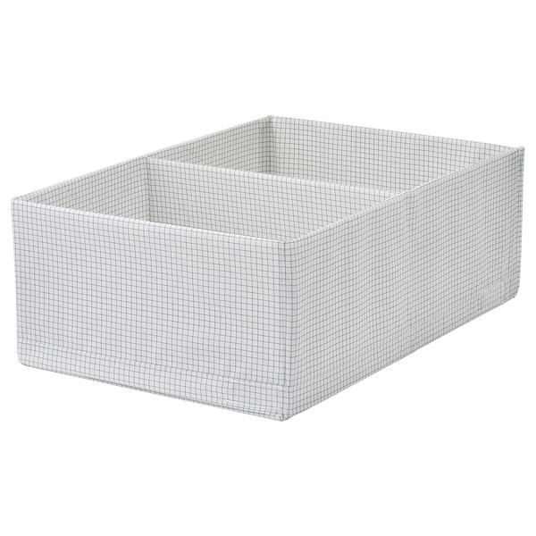 "STUK box with compartments white/gray 13 ½ "" 20 "" 7 """