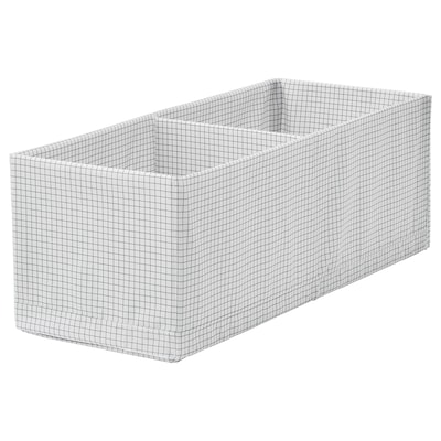 "STUK box with compartments white/gray 7 ¾ "" 20 "" 7 """
