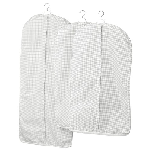 STUK clothes cover, set of 3 white/gray