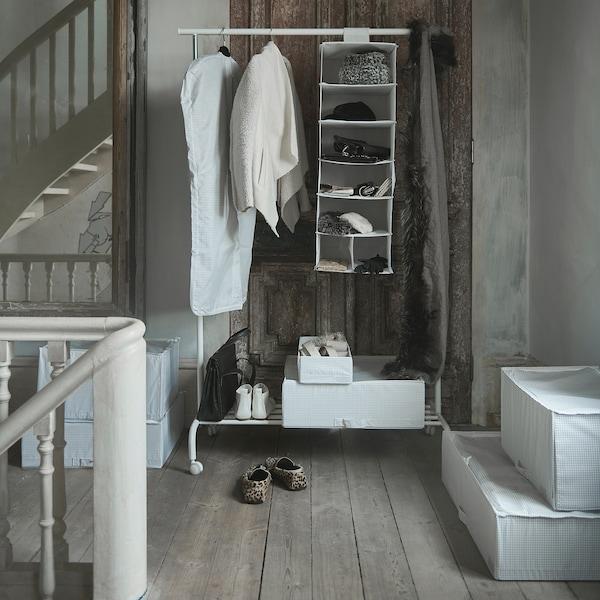 STUK clothes cover, set of 3 white/gray