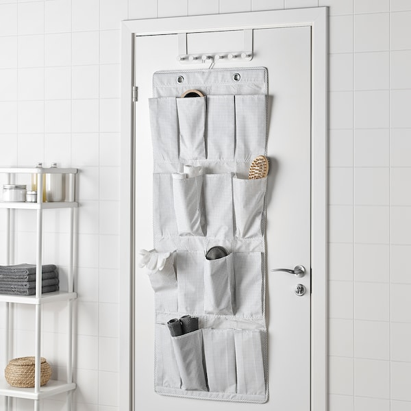 STUK Hanging shoe organizer w/16 pockets, white/gray, 20 1/8x55 1/8 ""