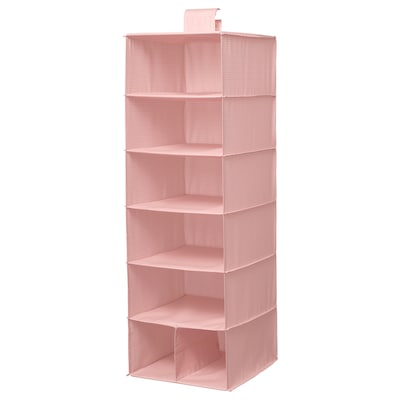 "STUK storage with 7 compartments pink 11 ¾ "" 11 ¾ "" 35 ½ """