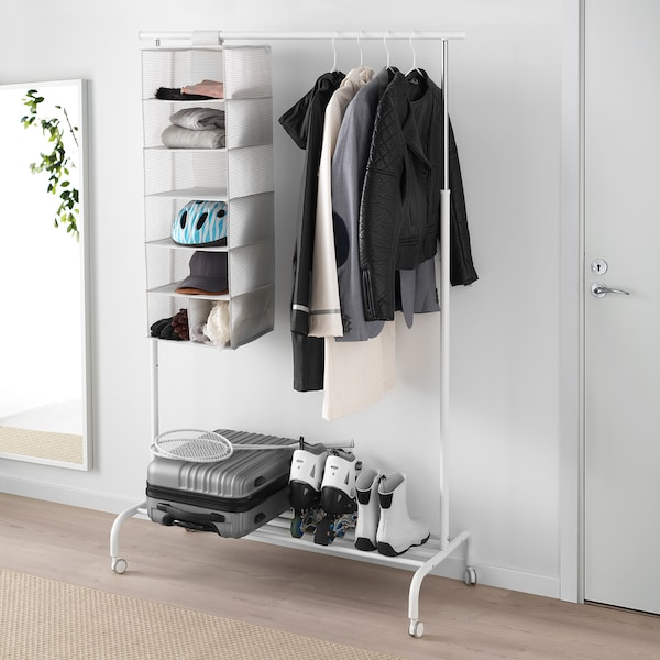 "STUK storage with 7 compartments white/gray 11 ¾ "" 11 ¾ "" 35 ½ """