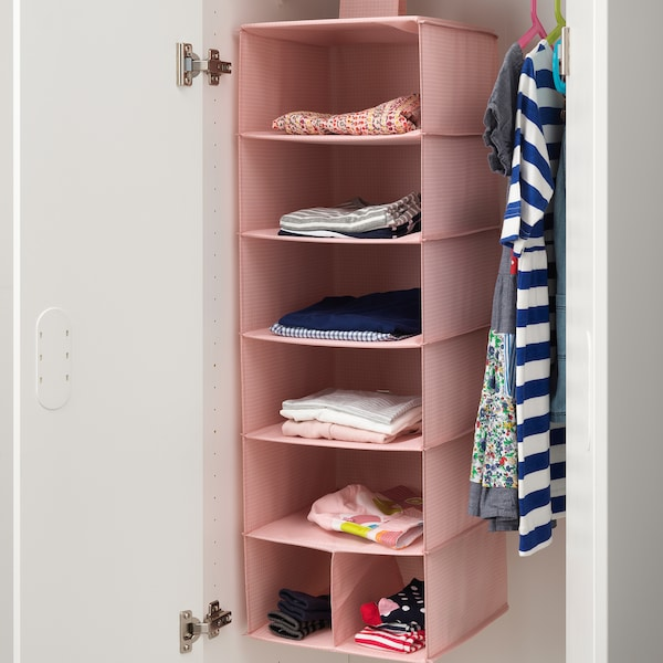 """STUK storage with 7 compartments pink 11 ¾ """" 11 ¾ """" 35 ½ """""""