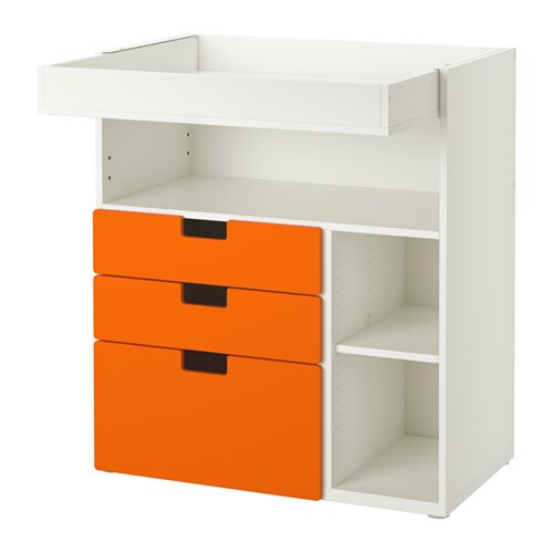 Stuva changing table with 3 drawers white orange ikea for Ikea in orange county